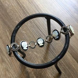 .925 Sterling Silver Cameo Bracelet